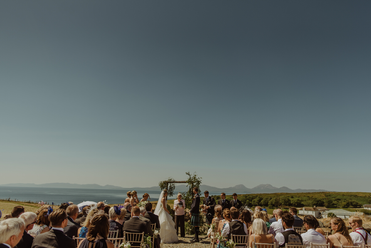 Outdoor ceremony at a Crear Wedding