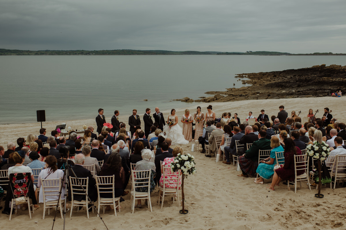 Outdoor beach ceremony at a GG's Yard Wedding