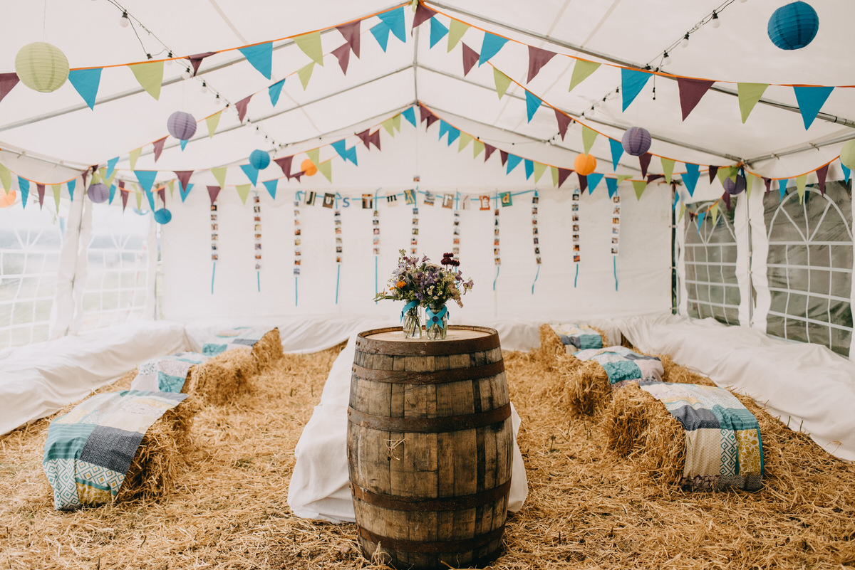 DIY festival wedding in Scotland