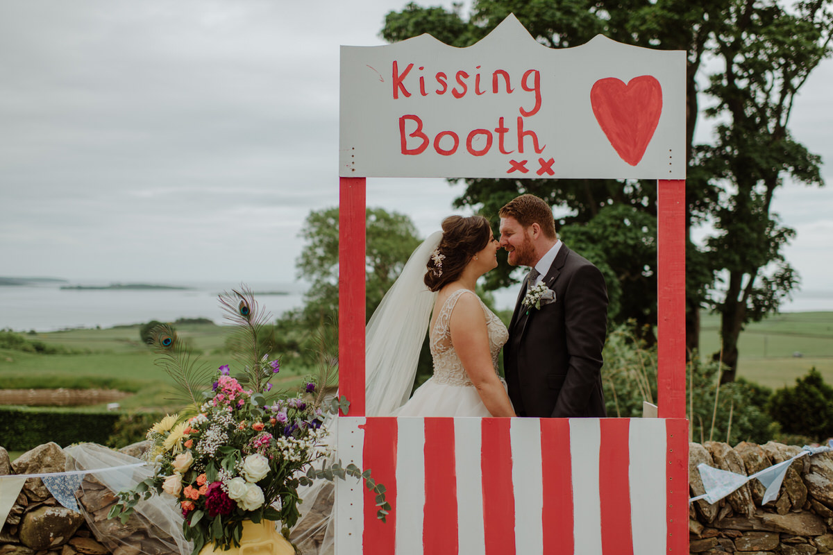 Kissing booth at a GG's Yard Wedding