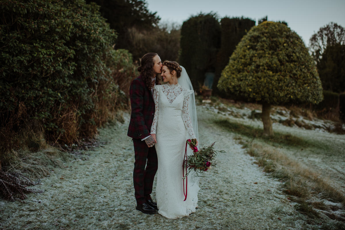 Bride & Groom photography session at Fingask Castle Wedding