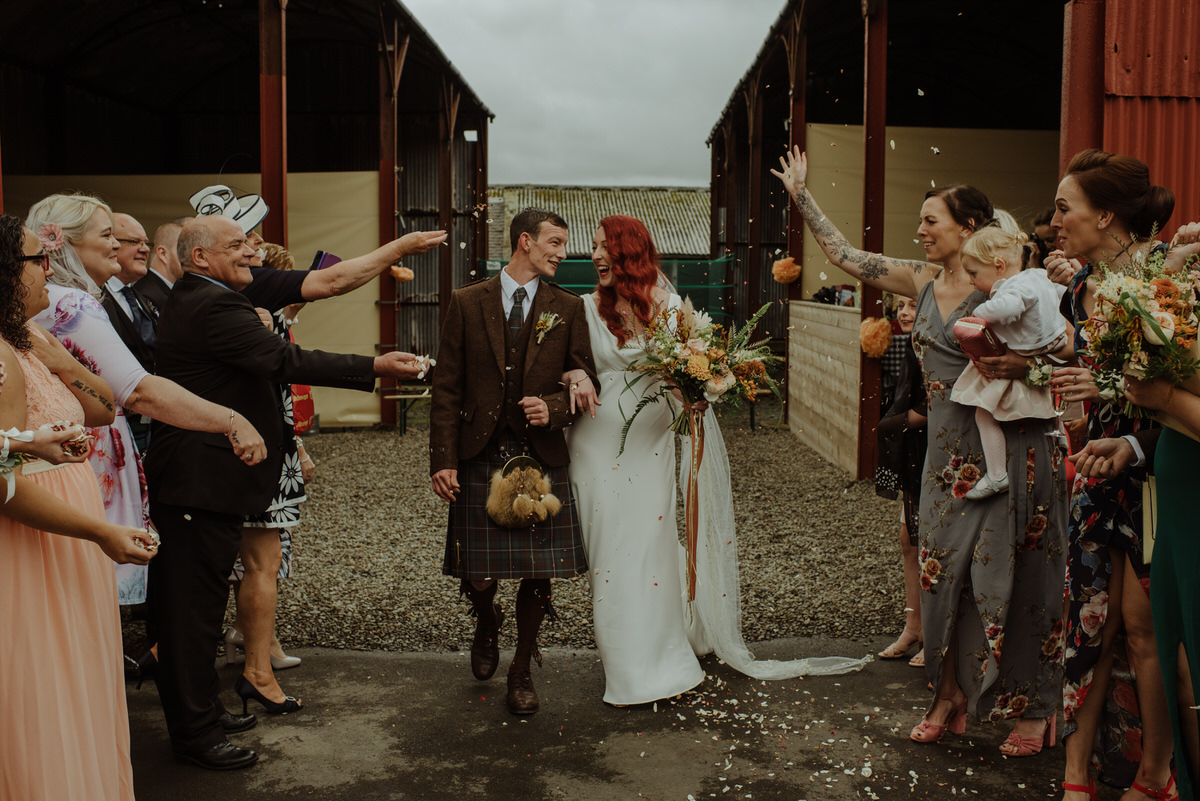 Confetti at a Dalduff Farm Wedding