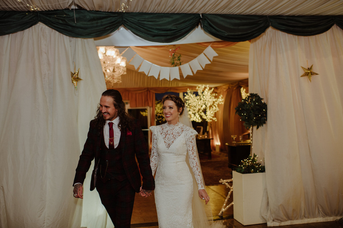 Winter themed Fingask Castle Wedding