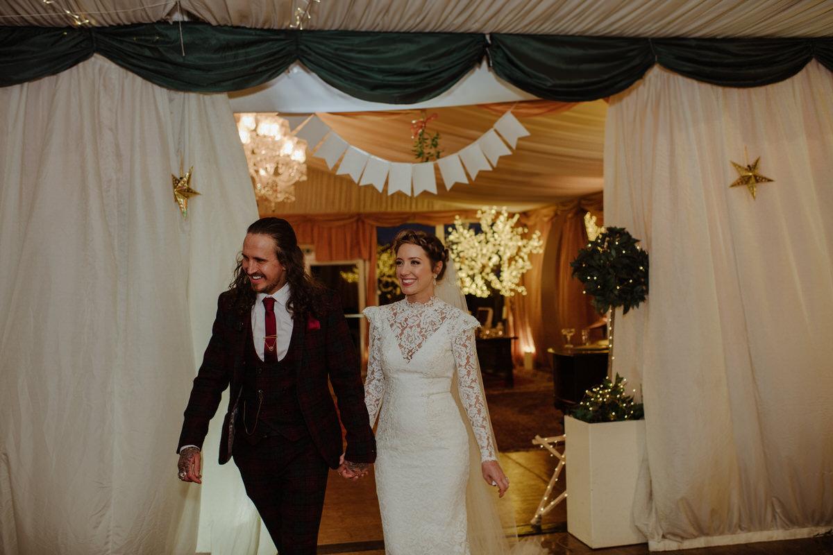 Winter themed Fingask Castle Wedding