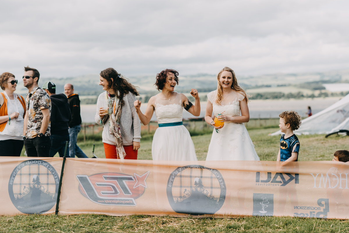 DIY mountain bike festival wedding in Scotland