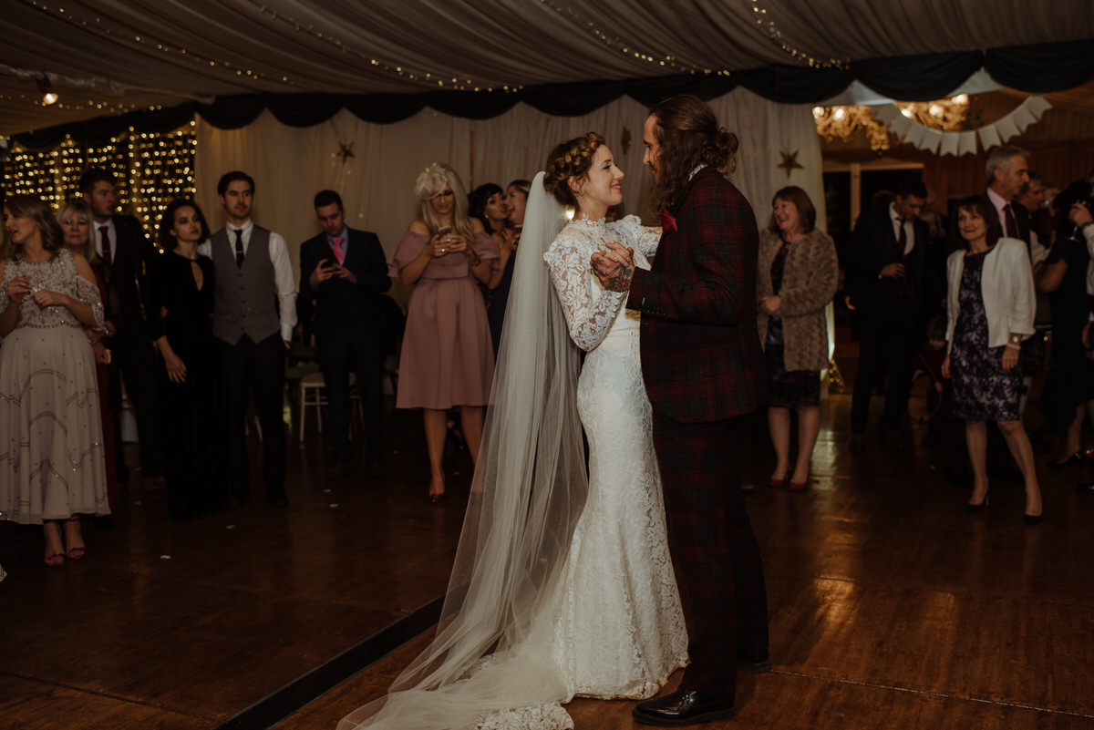 First dance at Fingask Castle Wedding