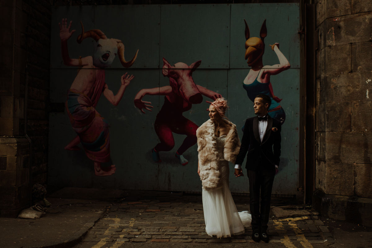 Wedding street photography in Edinburgh