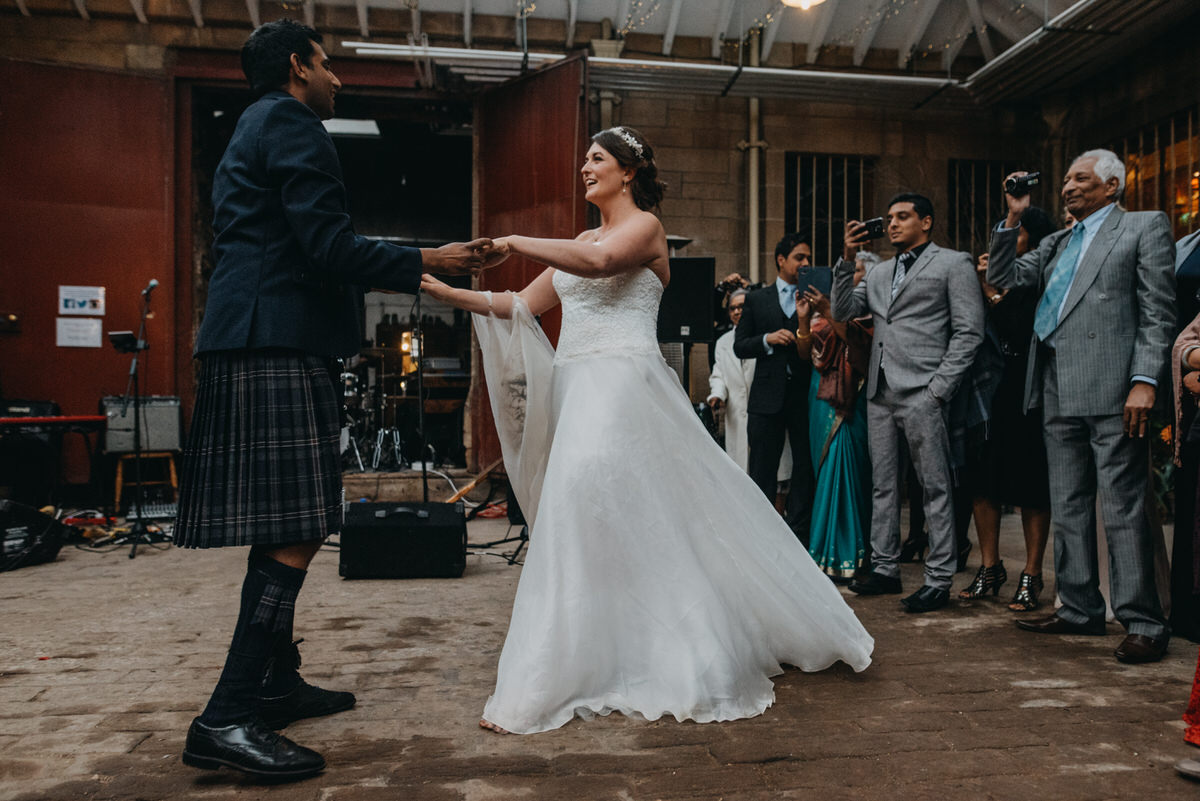 First dance at a Cambo Estate Wedding
