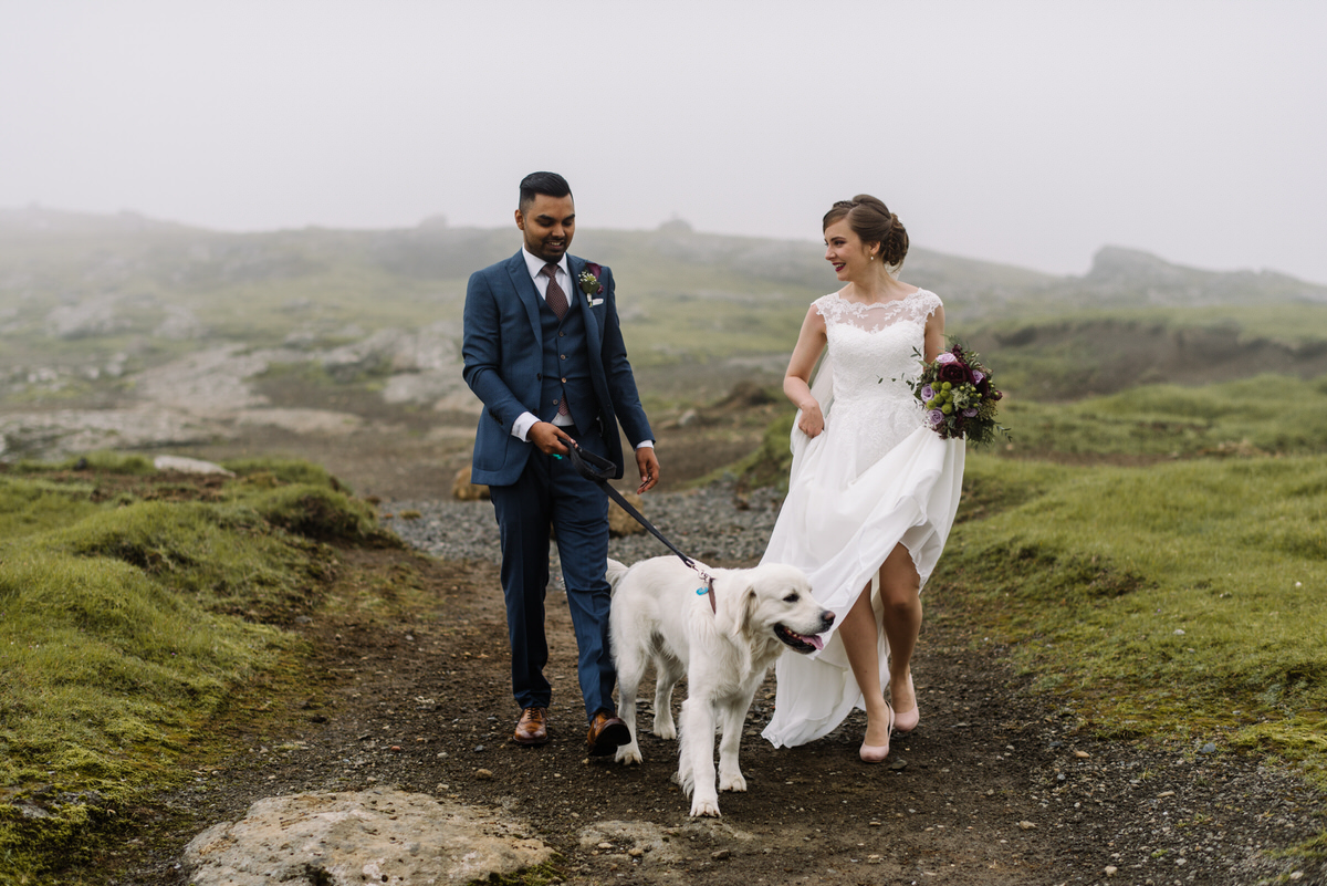 Sara Andrew Got Married In Their Local Church Before Heading Up The Mountains For A Few Snaps And Faroe Islands Didn T Disointment With Some