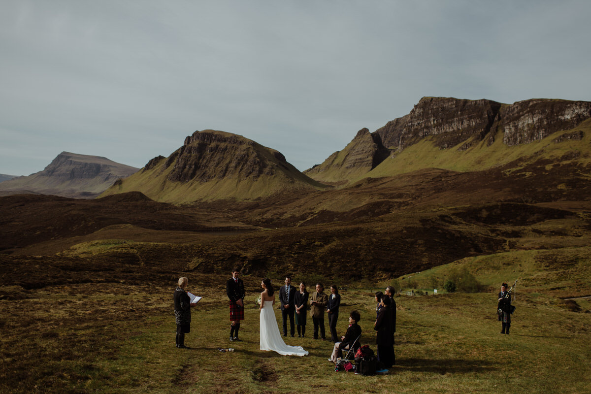 a couple get married at the quiraing on the isle of Skye