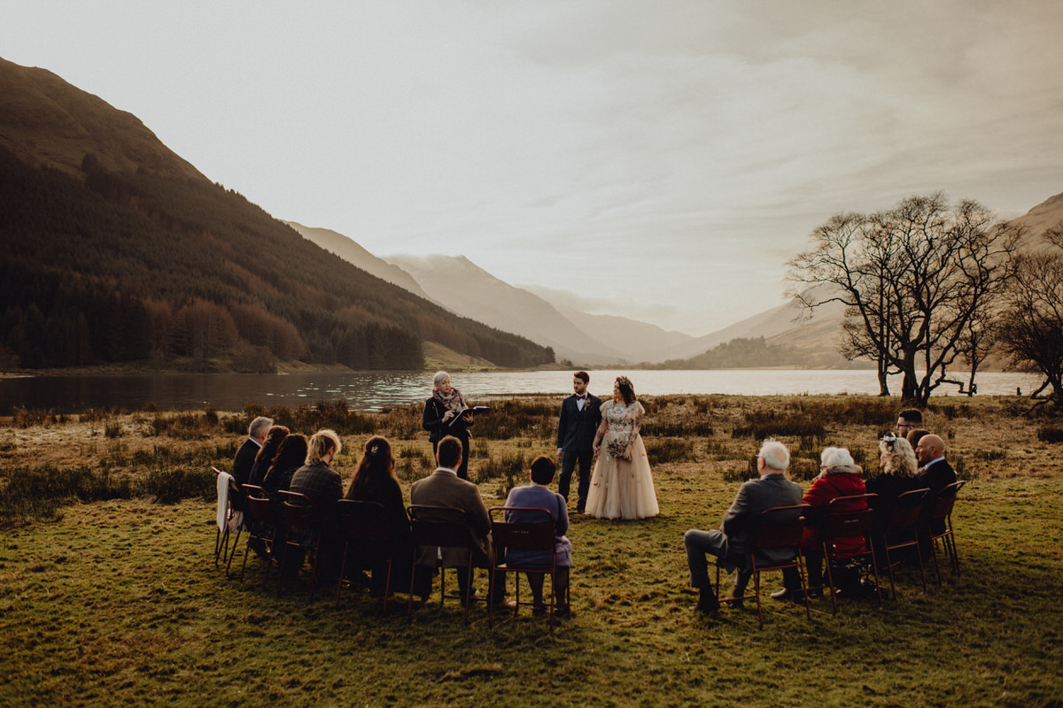 An intimate ceremony at monacyle mhor in Scotland