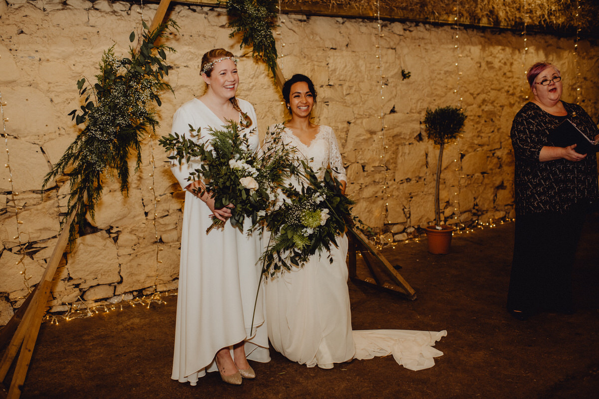 Two brides get married at Comrie croft in scotland