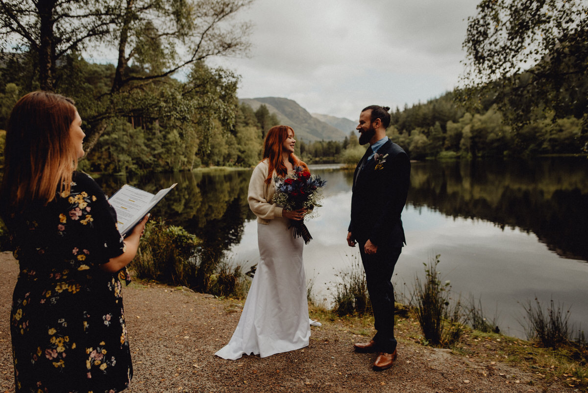a couple get married at Glencoe, Scotland
