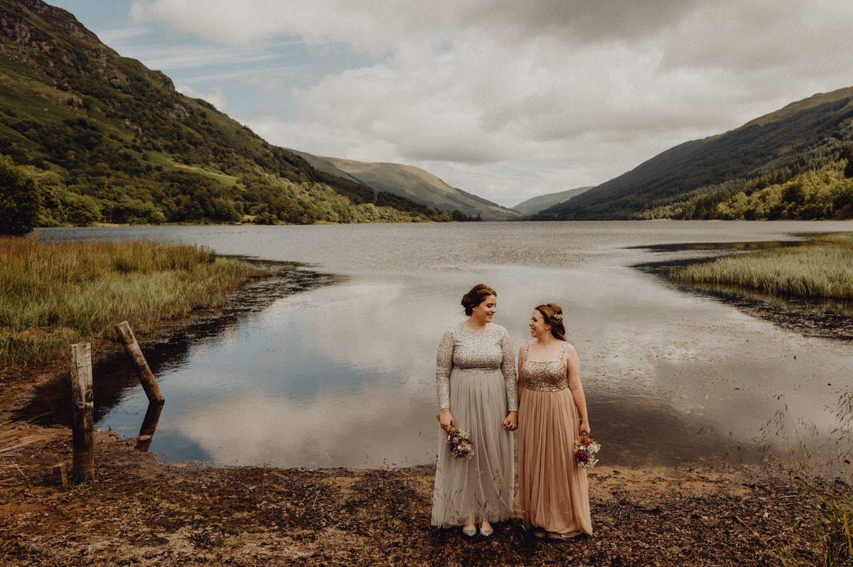 as wedding couple get married at monachyle mhor